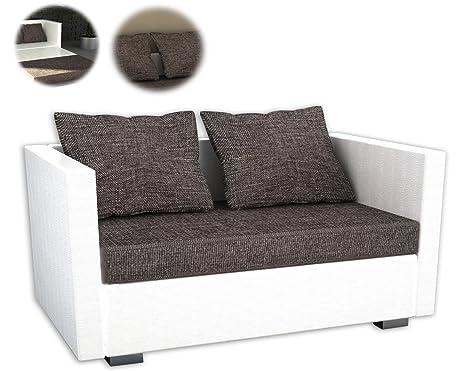 ONUX 2er Couch Kunstleder Schlafsofa Sofa mit Schlaffunktion