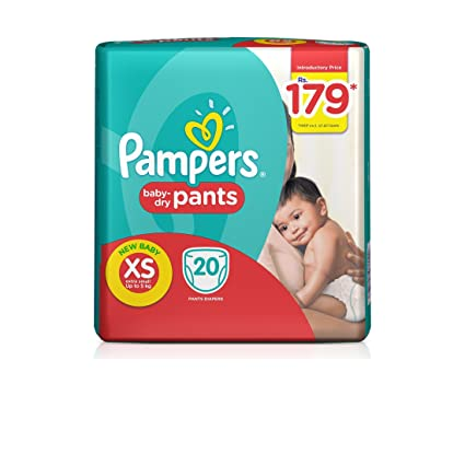 5a6538fb81 Pampers Pants Extra Small Size Diapers for New Born (20 Count ...
