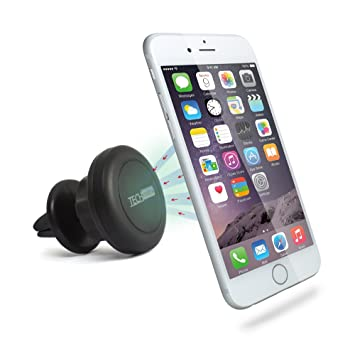 TechMatte MagGrip 360 Air Vent Mount Magnetic Multi-Angle Universal Car Mount Holder for Smartphones including iPhone 6, 6S, Galaxy S6, S6 Edge - Black