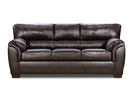 Simmons Upholstery 1797-04F London Walnut Bonded Leather Full Hide-A-Bed