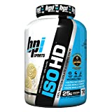 BPI Sports ISO HD 100% Protein Isolate & Hydrolysate, Vanilla Cookie, 4.8 Pound. (Color: Vanilla Cookie, Tamaño: 70 Servings)