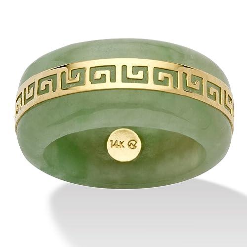 Genuine-Green-Jade-14k-Yellow-Gold-Greek-Key-Ring
