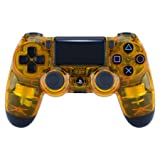 eXtremeRate Transparent Crystal Clear Yellow Front Housing Shell Faceplate Cover for Playstation 4 PS4 Slim PS4 Pro Controller (CUH-ZCT2 JDM-040 JDM-050 JDM-055) (Color: Transparent Crystal Clear Yellow)
