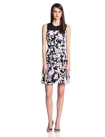 Marc New York by Andrew Marc Women's Power Flower Dress, Multi, 6