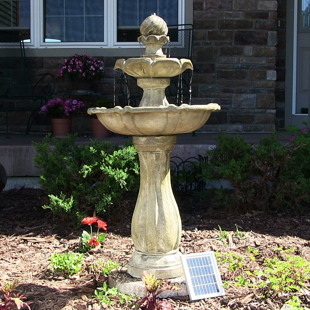 Beautiful solar powered garden fountains honest reviewz for Garden water fountains