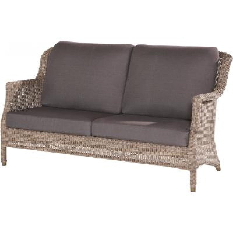 4Seasons Outdoor Del Mar 2.5-Sitzer Sofa Polyrattan Pure