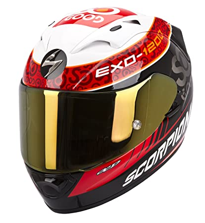 Scorpion eXO-cHARPENTIER 1200 rEPLICA casque intégral aIR-noir/blanc/rouge