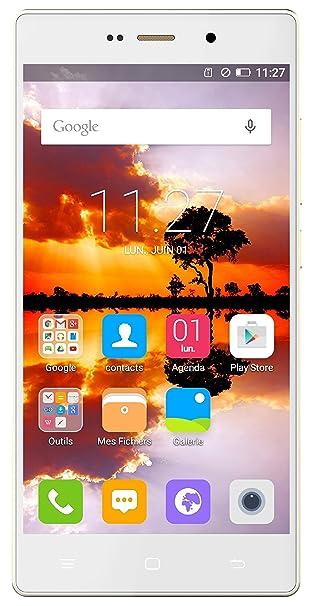 Hisense H910 Smartphone débloqué 4G (Ecran: 5,5 pouces - 16 Go - Double SIM - Android 4.4 KitKat) Blanc