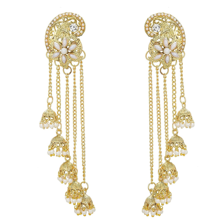 The Luxor Gold Pearl Jhumki Earrings For Women