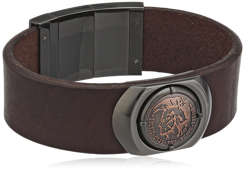 Diesel Herren Armband Edelstahl Leder Ohne DX0798060 günstig kaufen