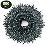 Decute 800LED Christmas String Lights 262ft Indoor Outdoor Waterproof Twinkle Lights Warm White with 8 Lighting Modes, UL Certified Decoration Lights for Wedding Party Christmas Tree (Tamaño: 262FT 800LED Warm White)