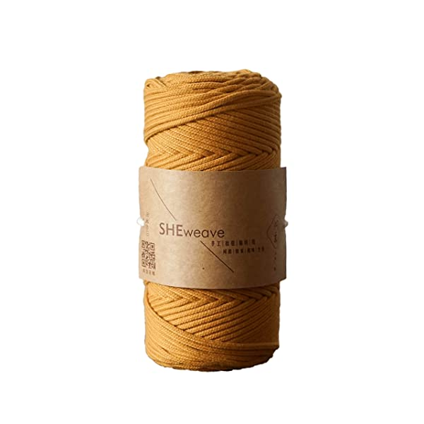 Macrame Cord Natural Cotton Soft Unstained Rope for Handmade Plant Hanger Wall Hanging Craft Making About 109 yd SkyBlue, 3mm x 100m