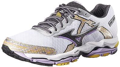 Mizuno Women's Wave Enigma 4  Running Shoe, White/Black, 6.5 M US