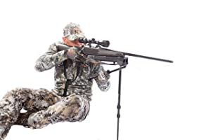 Swagger BiPods SWAG-BP-HT42 Hunter 42 Hunting and Shooting Rifle Bipod Black Adjustable to 42 Inches (Color: Black, Tamaño: Adjusts 9.75 to 41.25)