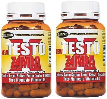Bodybuilding-Ergänzungen 2 Packung 70 g - 100 Tabletten New TEXT X ZMA ist eine neue Formel auf der Grundlage - Tribulus terrestris (titriert protodioscin) - Avena Sativa - Hay griechisch - Dioscorrea - Zink - Magnesium - Vitamin B6 ist ein naturlich