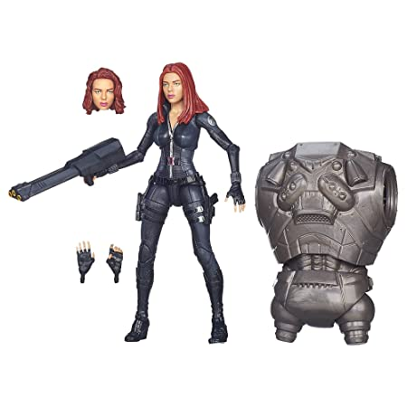 Marvel Legends Captain America Build A Figure Collection Black Widow Action Figurine