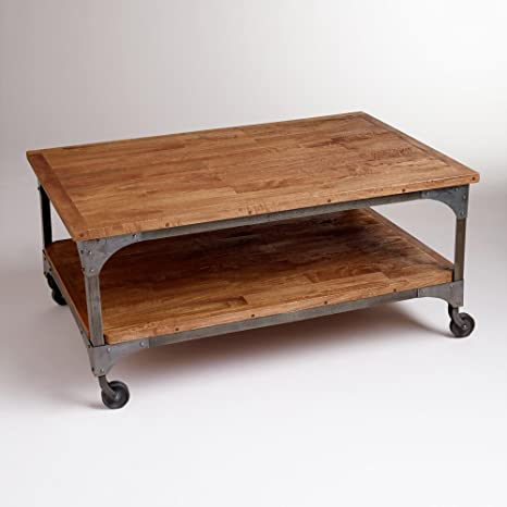 Wood and Metal Aiden Coffee Table - World Market