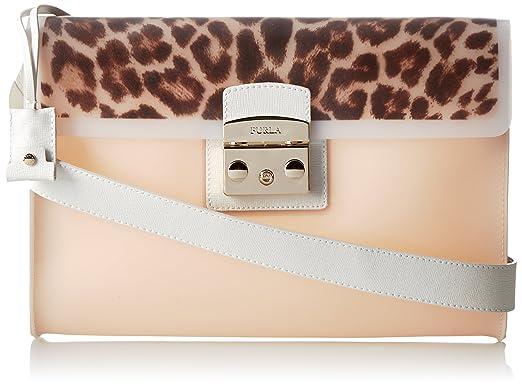 FURLA Candy Vanilla Medium Pochette With Print Cross-Body Handbag