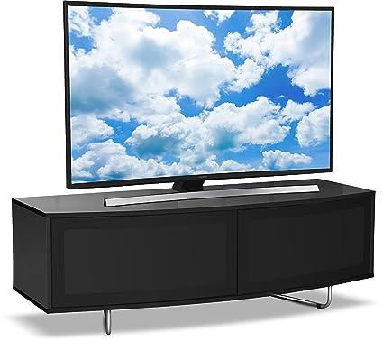 """Centurion Soporta Caru Negro brillante de la viga-Thru """"D"""" remoto Forma Super-friendly Contemporary Design 32 """"-65"""" TV LED / OLED / LCD Gabinete"""