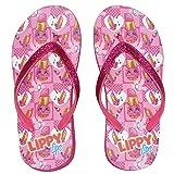 Shopkins Little Girl's Wedge Flip Flop Sandals (Small / 11-12 M US Little Kid, Lippy Lips)