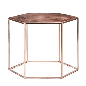 Copper Pentagonal Table