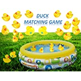 Playo Plastic Ducks Matching Game - 20 Duckies - Water Duck Memory Game for Party and Carnival - Match The Duck