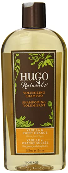 Hugo Naturals Volumizing Shampoo, Vanilla and Sweet Orange, 12 Ounce