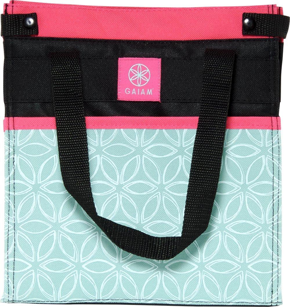 Gaiam Lunch Tote – Teal Flower of Life (30893)