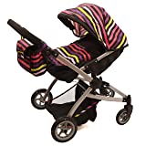 Babyboo Twin Stroller/Doll Pram- Deluxe Little Marcel Look Includes a Carriage Bag (Color: Marcel)