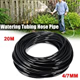 KINGSO 20m PVC Watering Tubing Hose Pipe 4/7mm for Micro Dripper Garden Irrigation System (Color: 20m tubing)