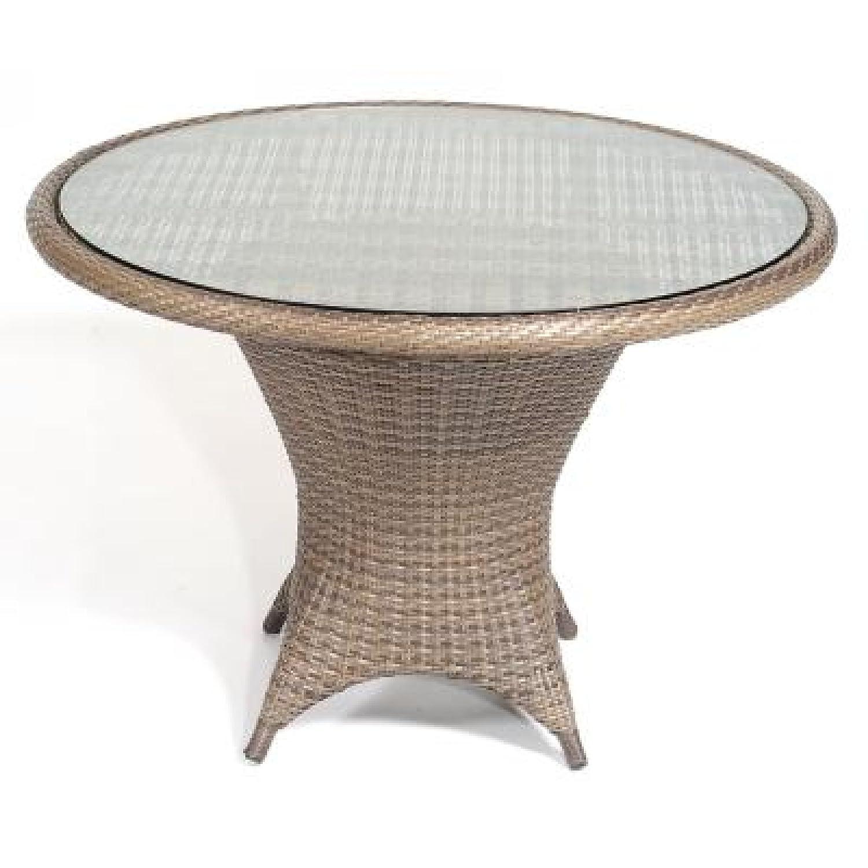 Tisch Bonaire 90 cm rund Kunstst. Cappuccino günstig online kaufen