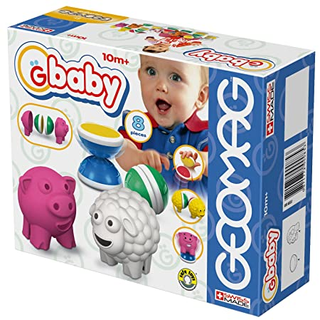 Geomag - Baby Farm Small 8 Pièces Cubes Aimantés 085 - Age : 3 Ans