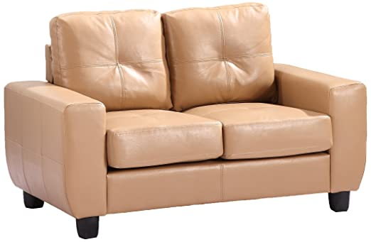 Glory Furniture G201A-L Living Room Love Seat, Tan