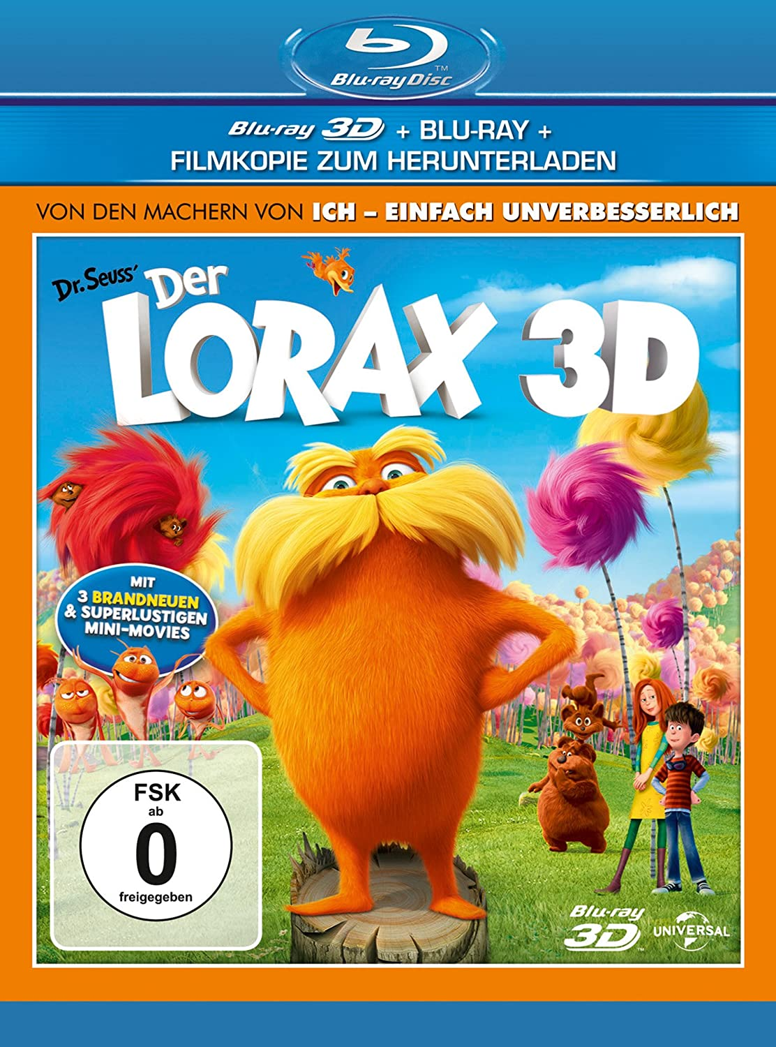 Der Lorax BluRay 3D amazon