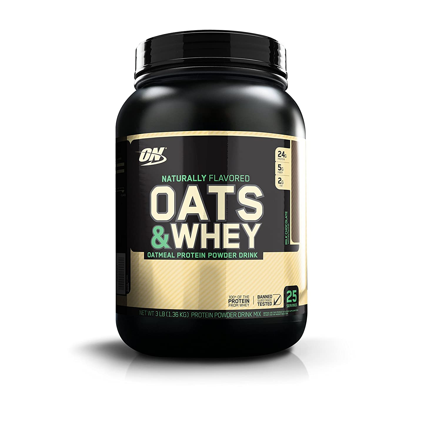 Protein Shaker Optimum Nutrition: Optimum Nutrition Natural Oats & Whey 1.36Kg Protein