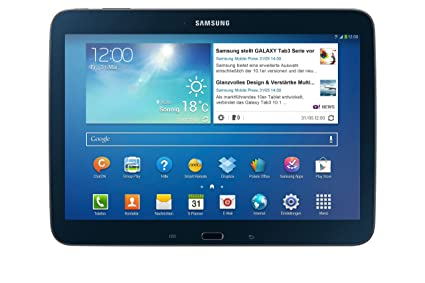 """Samsung Galaxy Tab 3 Tablette tactile 10.1"""" Processeur Intel Atom dual-core 1,6 GHz 16 Go Android Jelly Bean 4.2.1 Bluetooth WiFi Noir"""