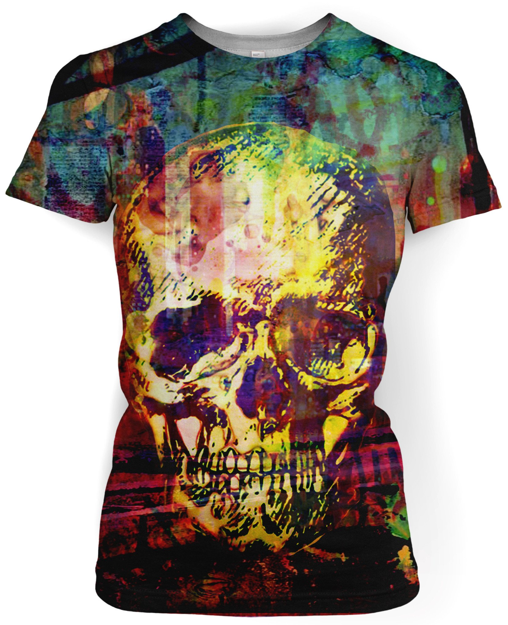Women's Graffiti Skull T-Shirt