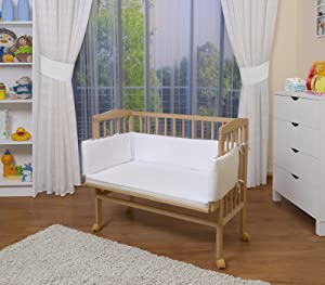 WALDIN Baby Bedside Cot Co Sleeper height adjustable,untreated or white       BabyCustomer reviews and more information