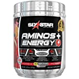 Six Star Aminos Plus Energy, BCAA Powder, Fruit Punch, 40 Servings, 277 Gram (Tamaño: 40 serv)