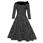 GlorySunshine Women's Vintage Swing Polka Dot Dress