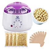 Makartt Wax Warmer Melter Hair Removal Kit Set with Hard 400g Wax Beans and Wax Applicator Sticks (Color: Wax Wamrmer Kit with 400g Wax beans, Tamaño: 14 oz)