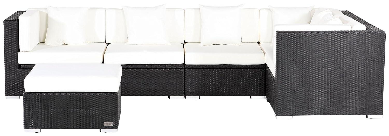 Outflexx Gartenmöbel Garnitur XL 1146 Polyrattan w1 Box, schwarz