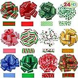 JOYIN 24 Pieces Wrap Ribbon Pull Bows (5