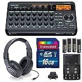 Tascam DP-008EX 8-Track Digital Pocket studio Along with Samson Studio Headphones And Deluxe Bundle (Color: Basic)