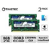 Timetec Hynix IC Apple 8GB Kit (2x4GB) DDR3 1333MHz PC3-10600 SODIMM Memory Upgrade for MacBook Pro 13/15/17 inch Early/Late 2011,iMac 21.5-inch Mid/Late 2011,27-inch Mid 2011,Mac Mini 5,1 & 5,2 Mid (Tamaño: High Density 8GB Kit (2x4GB))