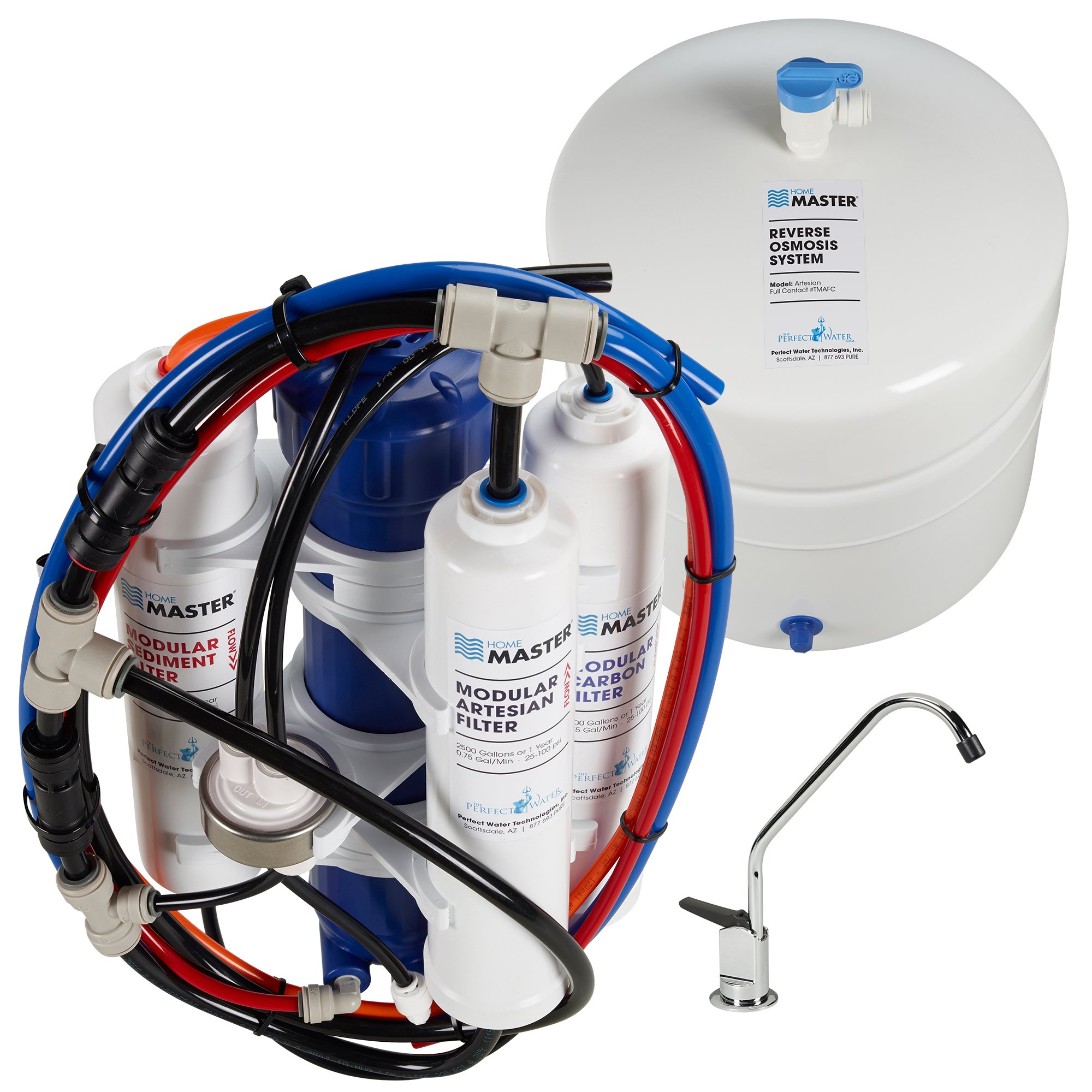Home Master TMAFC Artesian Full Contact Reverse Osmosis Under Counter Water Filtration System