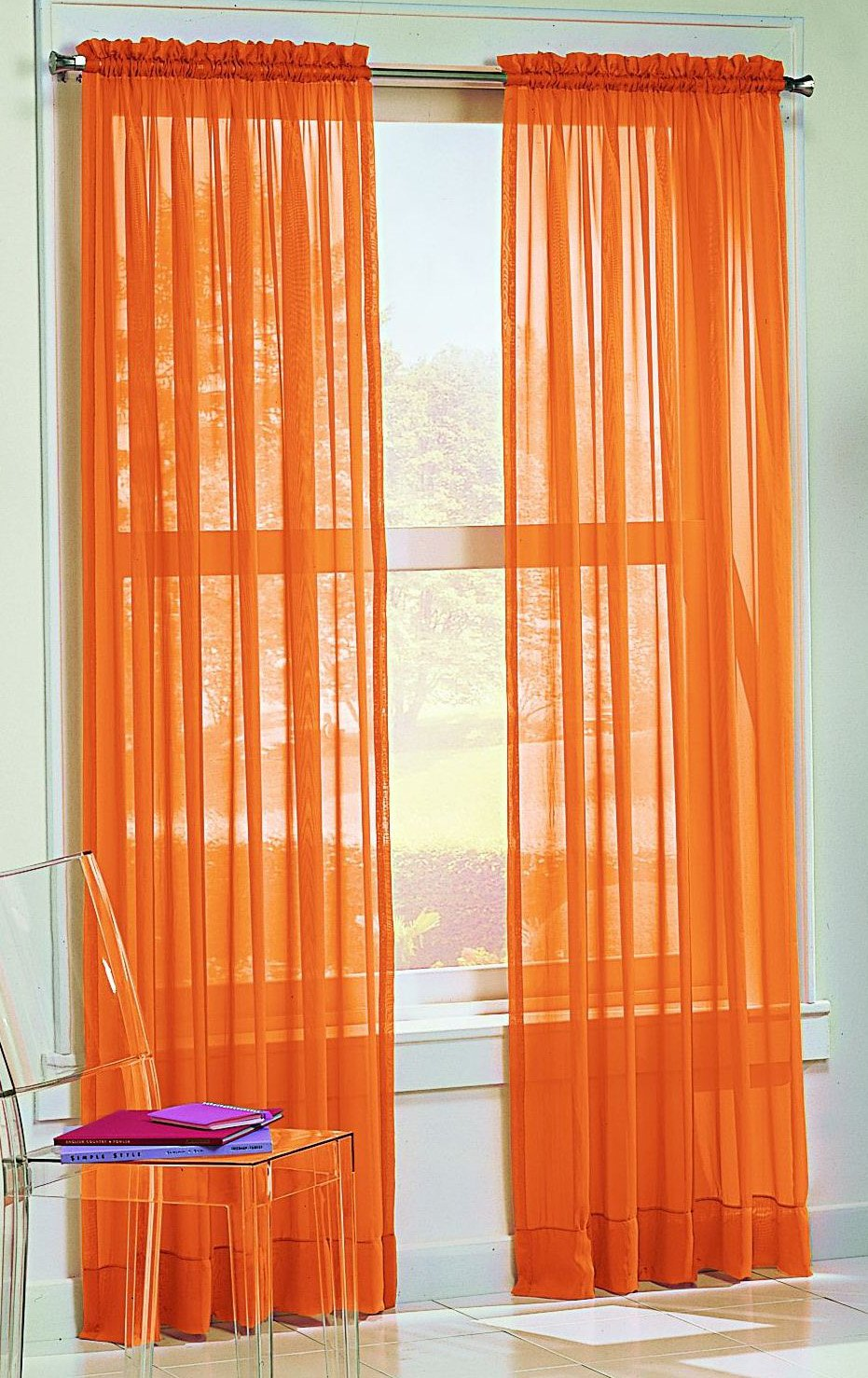Amazon.com: Orange - Draperies & Curtains / Window Treatments ...
