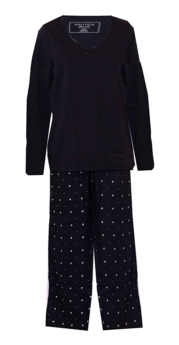 Nautica Knit and Brushed Cotton Nautical Theme Anchors Pajamas PJ's