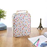 150 Slots Colored Pencils Universal Pencil Bag Pen Case School Stationery PencilCase Drawing Painting Storage Pouch Pencil Box (White)