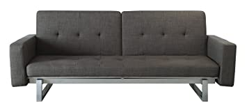 Homelegance 4827FA Convertible/Adjustable Sofa Bed, Grey Fabric